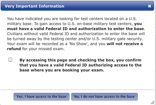 Terms and Conditions screen shot