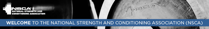 Welcome to the National Strength and Conditioning Association (NSCA) graphical header